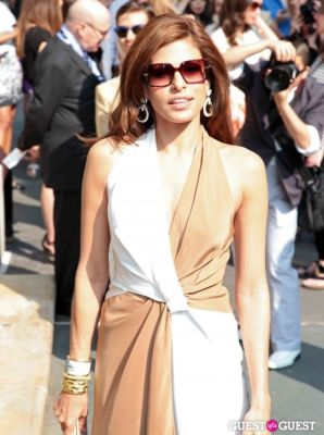 eva mendes in Salvatore Ferragamo Presents Women's Resort 2012 Collection