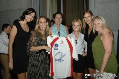 maggi warner in USA Homeless Soccer Team Jersey Presentation at Cipriani Wall Street