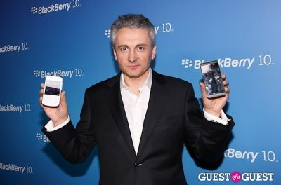 franck boulben in BlackBerry Z10 Launch