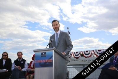 fred dixon in Hornblower Re-Dedication & Christening at South Seaport's Pier 15