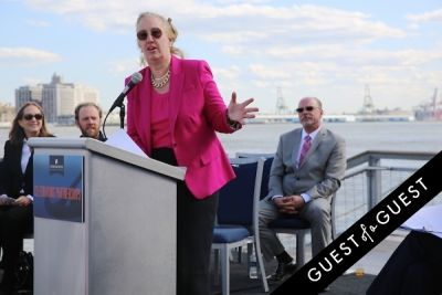 gale a.-brewer in Hornblower Re-Dedication & Christening at South Seaport's Pier 15