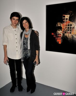 debbie walker in Garrett Pruter - Mixed Signals exhibition opening