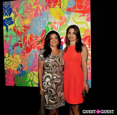 gayle hirsch in Ryan McGinness - Women: Blacklight Paintings and Sculptures Exhibition Opening