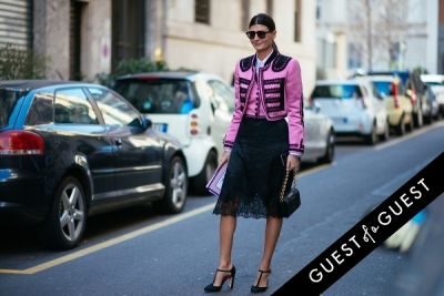 giovanna battaglia in Milan Fashion Week Pt 3