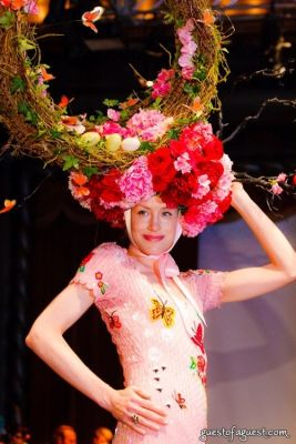 golf srithamrong in VCNY - Tulips & Pansies- A Headdress Affair - Runway and Backstage