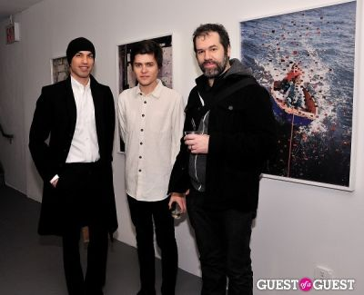 james gallagher in Garrett Pruter - Mixed Signals exhibition opening
