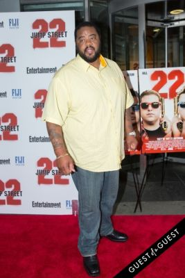 grizz chapman in 22 Jump Street Premiere
