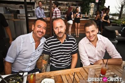 ulrik hedegaard-christiansen in Sunset Brunch Club at STK Rooftop