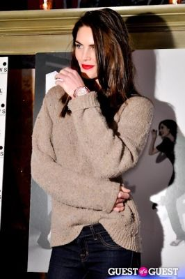 hilary rhoda in DUJOUR Magazine February Issue Launch Party