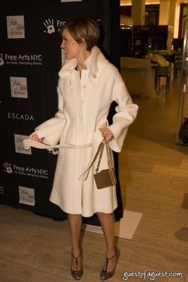 hillary swank in Escada Event at Saks Fifth Avenue