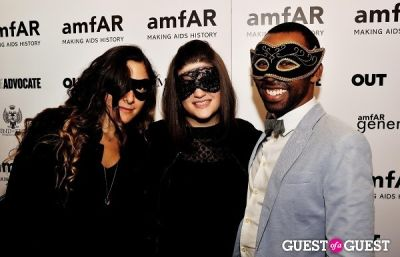 brandon piper in amfAR's generationCURE Masquerade