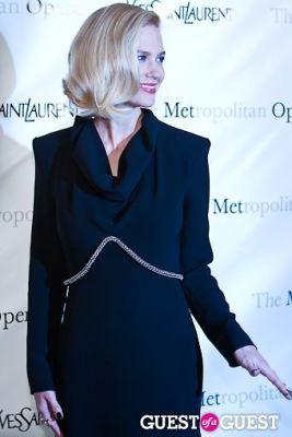 january jones in Yves Saint Laurent Sponsors The Metropolitan Premiere of Jules Massenet's Manon