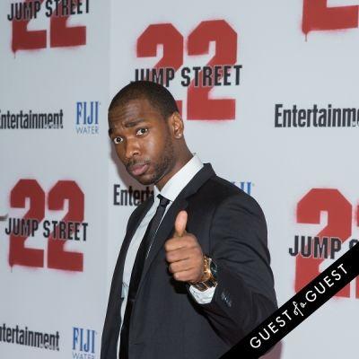 jay pharoah in 22 Jump Street Premiere