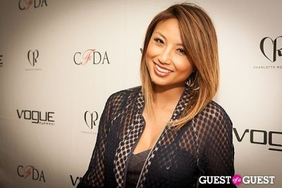 jeannie mai in 2014 Vogue Eyewear/CFDA Design Series Featuring Charlotte Ronson