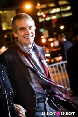 jeremy irons in Giorgio Armani One Night Only NYC event.