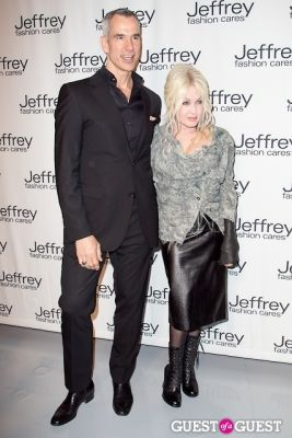 cyndi lauper in Jeffrey Fashion Cares 10th Anniversary Fundraiser