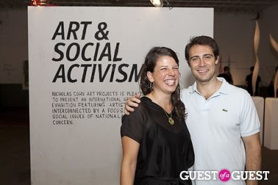 nicholas cohn in Art and Social Activism Exhibition Opening