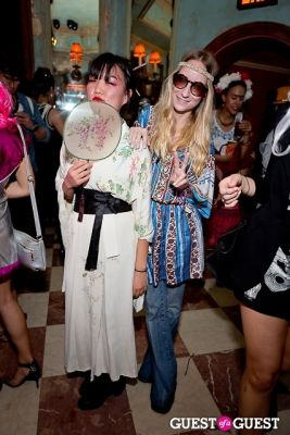 julia reinhart in Mara Hoffman & Pamela Love celebrate Halloween
