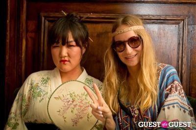 julia reinhart in Mara Hoffman & Pamela Love celebrate Halloween