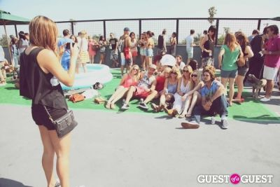 liz norris in FILTER x Burton LA Flagship Store Rooftop Pool Party With White Arrows