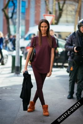 joan smalls in Milan Fashion Week Pt 1