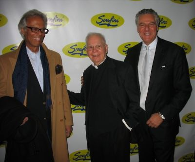 father sam-materazzo in Serafina UWS Opening Party