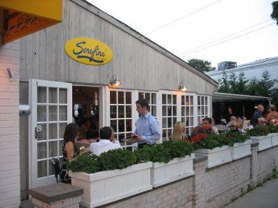 jordan daniel in Serafina East Hampton Opening
