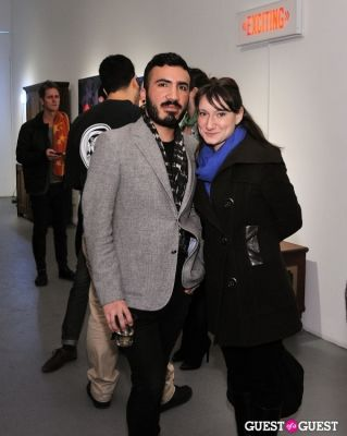 jorge baron-munoz in Retrospect exhibition opening at Charles Bank Gallery
