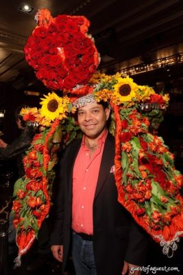 jorge cazzorla in VCNY Tulips & Pansies - A Headdress Affair