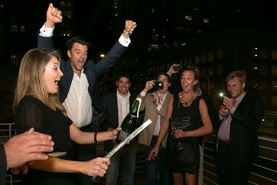 josh duhamel in G.H. Mumm Art of Celebration - Austin, TX