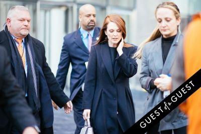 julianne moore in NYFW Street Style Day 7
