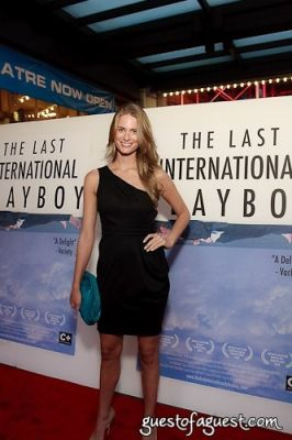 julie henderson in The Last International Playboy - Red Carpet Movie Premier
