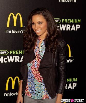 jurnee smollett in McDonald's Premium McWrap Launch With John Martin and Tyga Performance