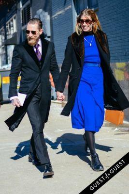 veronika heilbrunner in NYFW Street Style Day 1