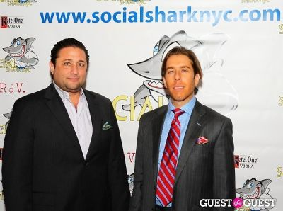 justin ross-lee in SocialSharkNYC.com Launch Party
