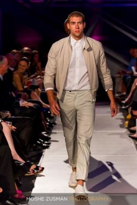 justin sampson in Couture for a Cure Runway Show featuring DKNY