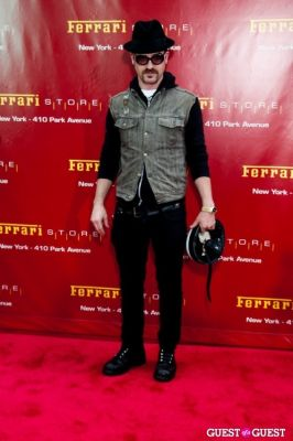 justin theroux in Ferrari Store Opening