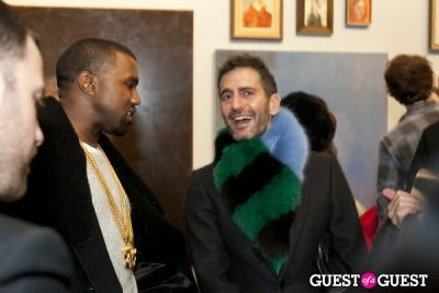 kanye west in New Museum's George Condo Exhibit