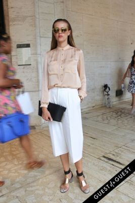 karolina antoniades in NYFW Style From the Tents: Street Style Day 4