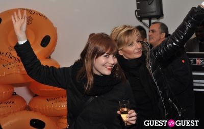 kate evans in Veuve Clicquot celebrates Clicquot in the Snow