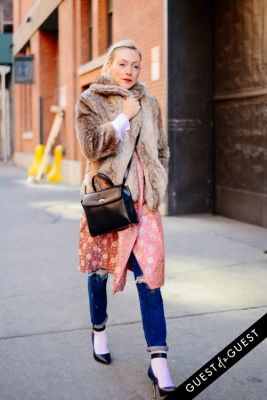 kate foley in NYFW Street Style Day 1
