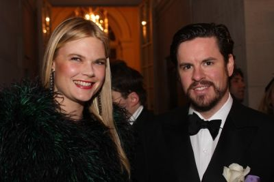 kate schelter in Young Fellows of the Frick with the Diamond Deco Ball