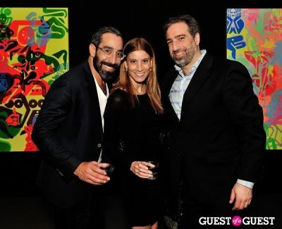 zjantelle markel in Ryan McGinness - Women: Blacklight Paintings and Sculptures Exhibition Opening