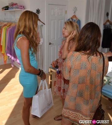 kelly bensimon in Minnie Rose by designer Lisa Shaller Goldberg event hosted by Kelly Bensimon