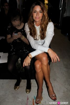 kelly bensimon in Michael Bastian FW13 Show
