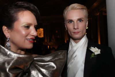 kelsea and-austin-scarlett in Young Fellows of the Frick with the Diamond Deco Ball