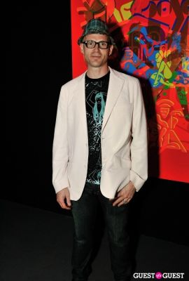 keppie kepple in Ryan McGinness - Women: Blacklight Paintings and Sculptures Exhibition Opening