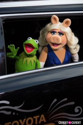 kermit the-frog-and-miss-piggy in Premiere Of Disney's
