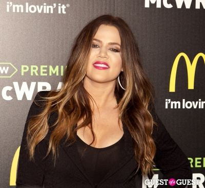 khloe kardashian in McDonald's Premium McWrap Launch With John Martin and Tyga Performance