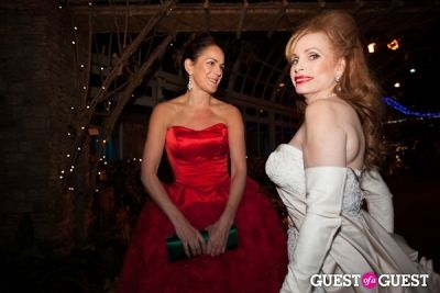 kim hicks in New York Botanical Garden Winter Wonderland Ball